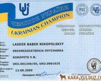 Ласкер - чемпион Украины